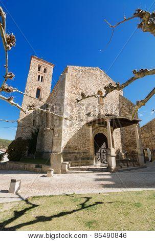 Ancient 14th century Church Santa Maria del Castillo in Buitrago de Lozoya Madrid Spain