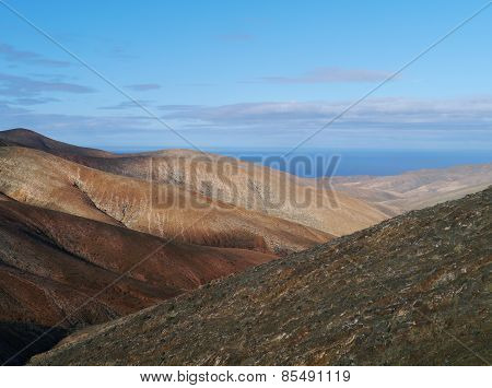 The mountains of Cardon on Fuerteventura