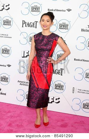 LOS ANGELES - FEB 21:  Hong Chau at the 30th Film Independent Spirit Awards at a tent on the beach on February 21, 2015 in Santa Monica, CA