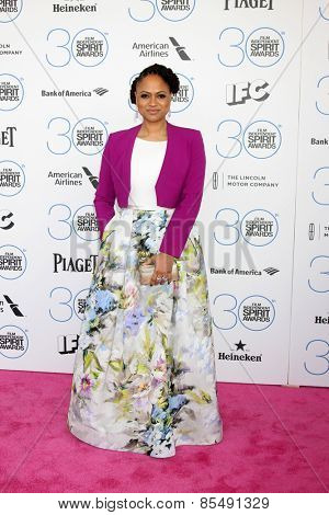 LOS ANGELES - FEB 21:  Ava DuVernay at the 30th Film Independent Spirit Awards at a tent on the beach on February 21, 2015 in Santa Monica, CA