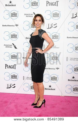 LOS ANGELES - FEB 21:  Berenice Marlohe at the 30th Film Independent Spirit Awards at a tent on the beach on February 21, 2015 in Santa Monica, CA