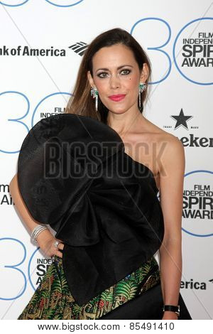 LOS ANGELES - FEB 21:  Sandra Bauknecht at the 30th Film Independent Spirit Awards at a tent on the beach on February 21, 2015 in Santa Monica, CA