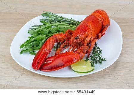 Red Boiled Lobster