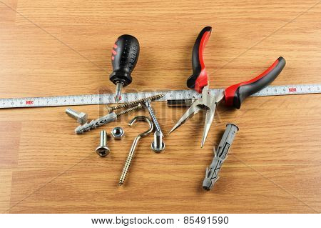 Set Of Various Tools For Mounting And Installation