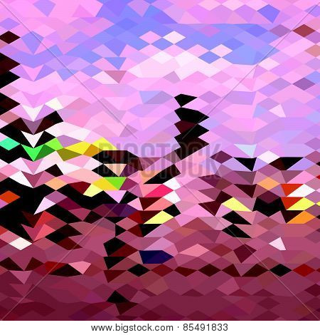 Horseman Abstract Low Polygon Background