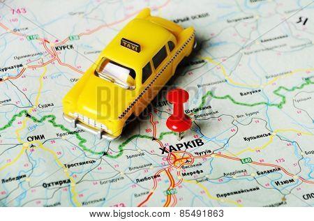 Charkov ,ukraine Map Taxi