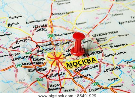 Moscow  , Russia  Map