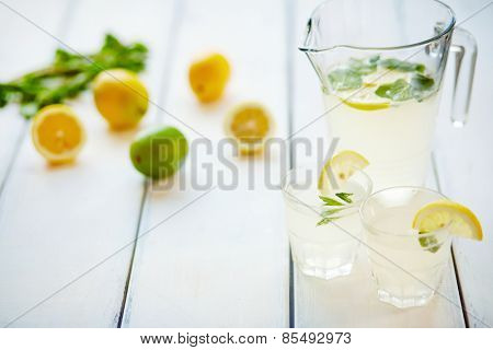 Two glasses with mojito