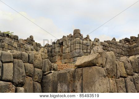 Ancient Inca fortress Saksaywaman, Cusco, Peru