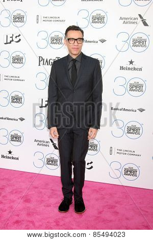 LOS ANGELES - FEB 21:  Fred Armisen at the 30th Film Independent Spirit Awards at a tent on the beach on February 21, 2015 in Santa Monica, CA