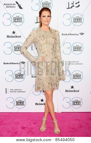 LOS ANGELES - FEB 21:  Darby Stanchfield at the 30th Film Independent Spirit Awards at a tent on the beach on February 21, 2015 in Santa Monica, CA