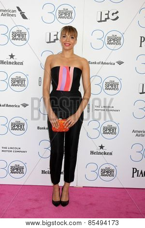 LOS ANGELES - FEB 21:  Carmen Ejogo at the 30th Film Independent Spirit Awards at a tent on the beach on February 21, 2015 in Santa Monica, CA