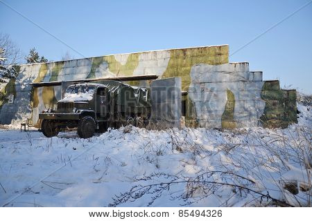 Old Czechoslovak Military Truck Praga V3S