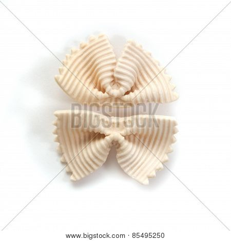 Italian Bows Farfalle Pasta From Durum Wheat,  Top View
