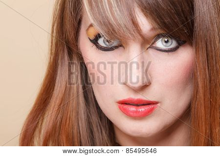Portrait Orient Girl With Makeup