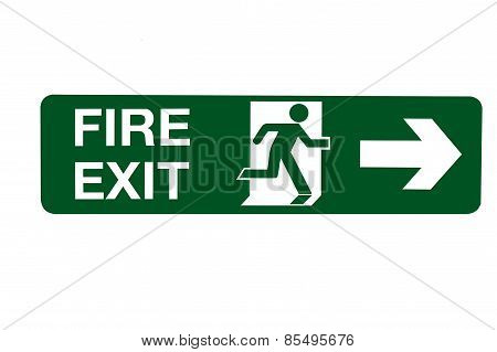 Fire Exit Direction Sign - Right