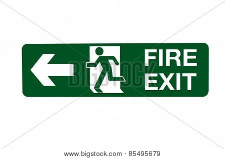 Fire Exit Direction Sign - Left