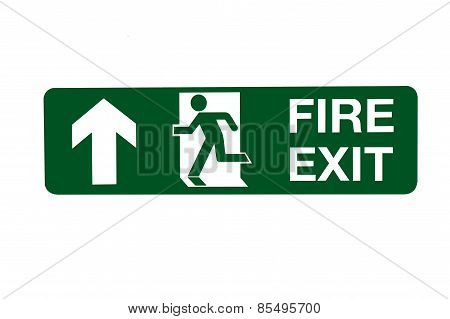 Fire Exit Direction Sign - Ahead