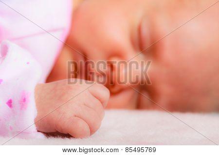 Little Newborn Baby Girl 24 Days Sleeps
