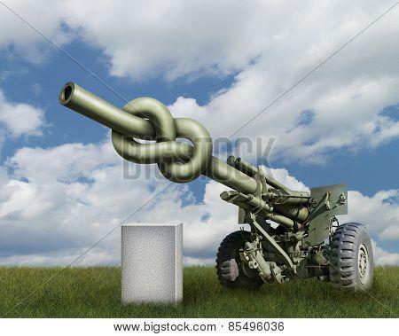 Artillery Gun Tied in a Knot