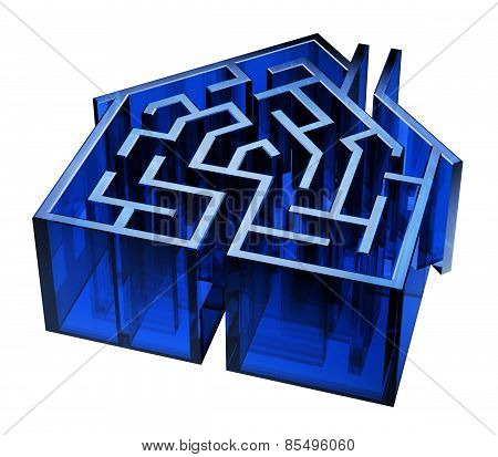 Blue Glass House Maze