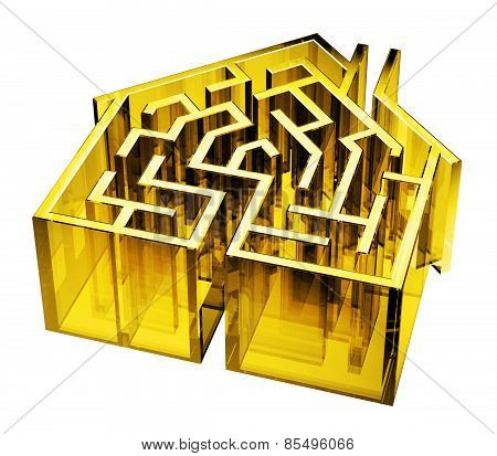 Yellow Gold Glass House Maze