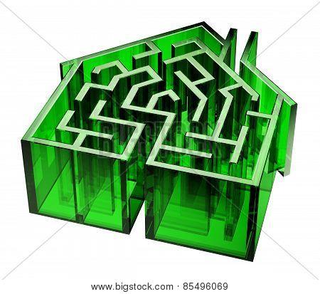 Green Glass House Maze