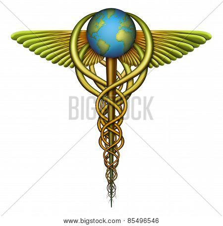 World Health Care Caduceus Symbol