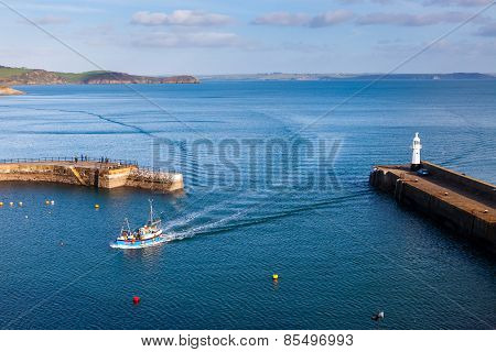 Mevagissey Harbour Cornwall England