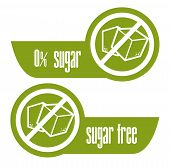 foto of free-trade  - Sugar free over white background - JPG