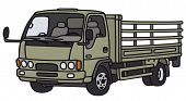 picture of lorries  - Hand drawing of a green small lorry truck  - JPG