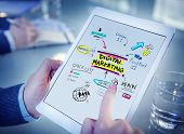 stock photo of strategy  - Digital Marketing Branding Strategy Online Media Concept - JPG