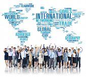 stock photo of globalization  - International World Global Network Globalization International Concept - JPG