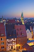 stock photo of neo-classic  - Image of historic downtown of Nuremberg - JPG