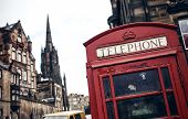 foto of phone-booth  - Red phone booth in Edinburgh - JPG