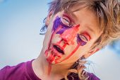 pic of scary face  - young kid  - JPG