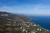 picture of paysage  - view from Ayu Dag the sea and the coast of the Crimea - JPG
