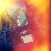 picture of iron ore  - industrial supporting facilities iron ore mining daylight - JPG