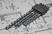pic of drill bit  - set of drill bits for electric screwdriver - JPG