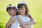 pic of communion  - Young girls doing her catholic first holy communion - JPG