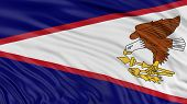 picture of three dimensional shape  - Image of American Samoa flag - JPG