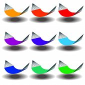 foto of bunk-bed  - A Rainbow of Nine hammocks for Print or Web - JPG