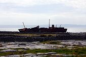 pic of wrecking  - Metal Wreck on the Island of Inishmaan Ireland - JPG