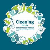 picture of cleaning service  - Cleaning service vector illustration - JPG