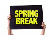 stock photo of spring break  - Spring Break card isolated on white - JPG