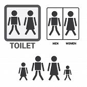 picture of toilet  - Black Square Toilet Sign with Toilet - JPG
