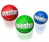 picture of shipping receiving  - Inventory word on balls being juggled in a difficult or challenging job - JPG