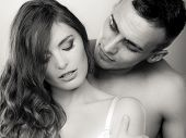 picture of intimacy  - Temptation woman and man - JPG