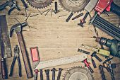 pic of tool  - Top view of a carpenter - JPG