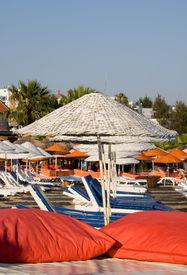 stock photo of gumbet  - Beach in a turkey - JPG